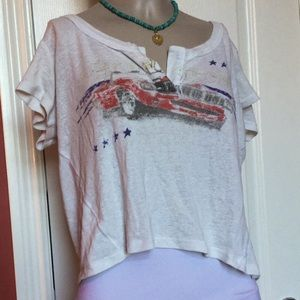 Free people we the free crop t shirt top xs 0 2